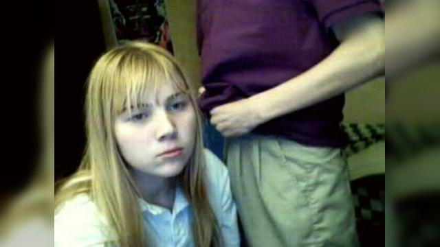 Teen girl sucks dick to her brother on webcam
